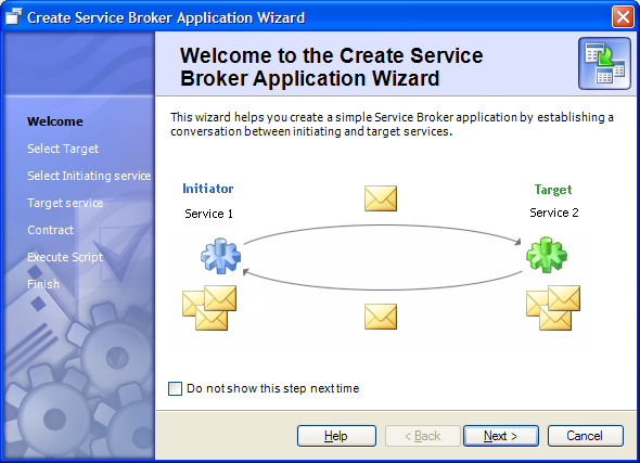 Service Broker Application Wizard