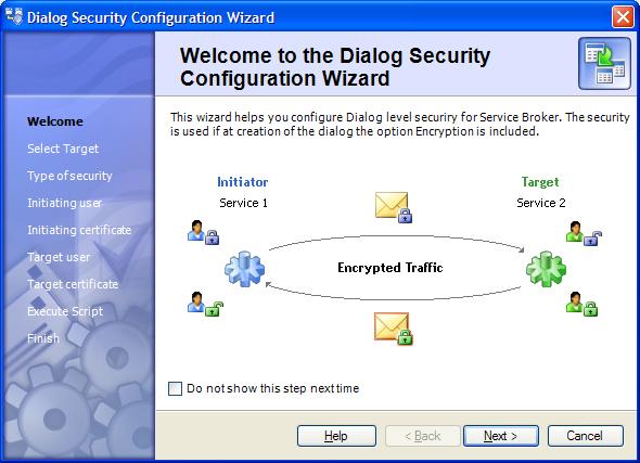 Dialog Security Wizard